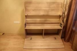 Вязальный стол с открытими секциями, полка задвинута