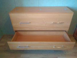 Вязальный стол, ящик открыт, цвет - ольха